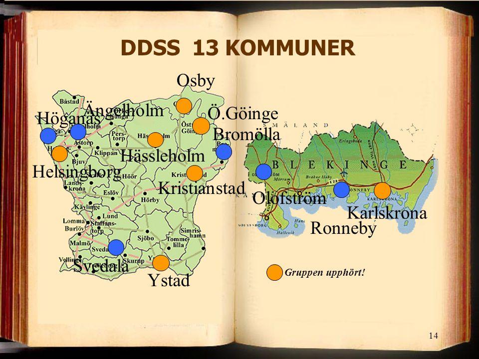 DDSS 13 KOMMUNER Osby Ängelholm Ö.Göinge Höganäs Bromölla Hässleholm