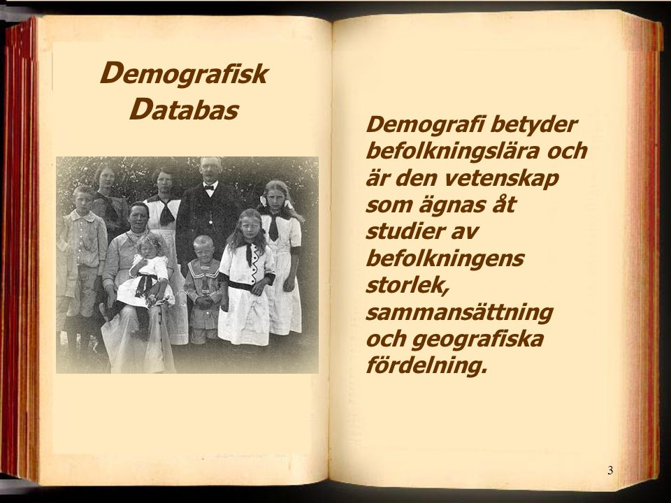 Demografisk Databas