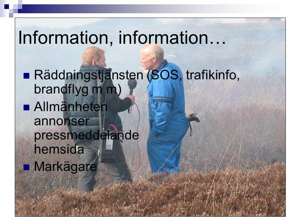 Information, information…