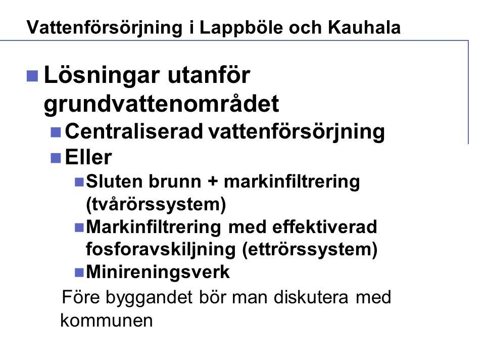 Vattenförsörjning i Lappböle och Kauhala