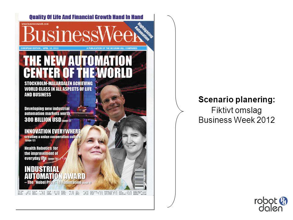 Scenario planering: Fiktivt omslag Business Week 2012