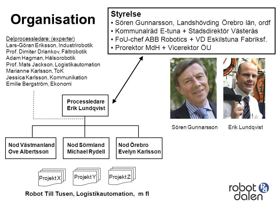Organisation Styrelse Sören Gunnarsson, Landshövding Örebro län, ordf