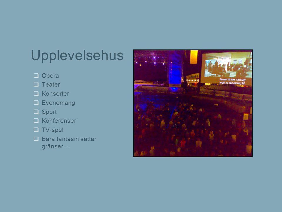 Upplevelsehus Opera Teater Konserter Evenemang Sport Konferenser
