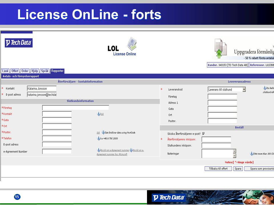 License OnLine - forts