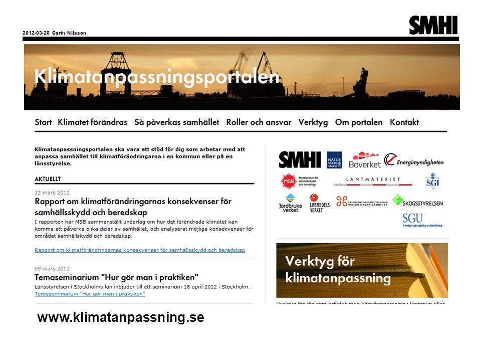 2012-03-20 Carin Nilsson www.klimatanpassning.se