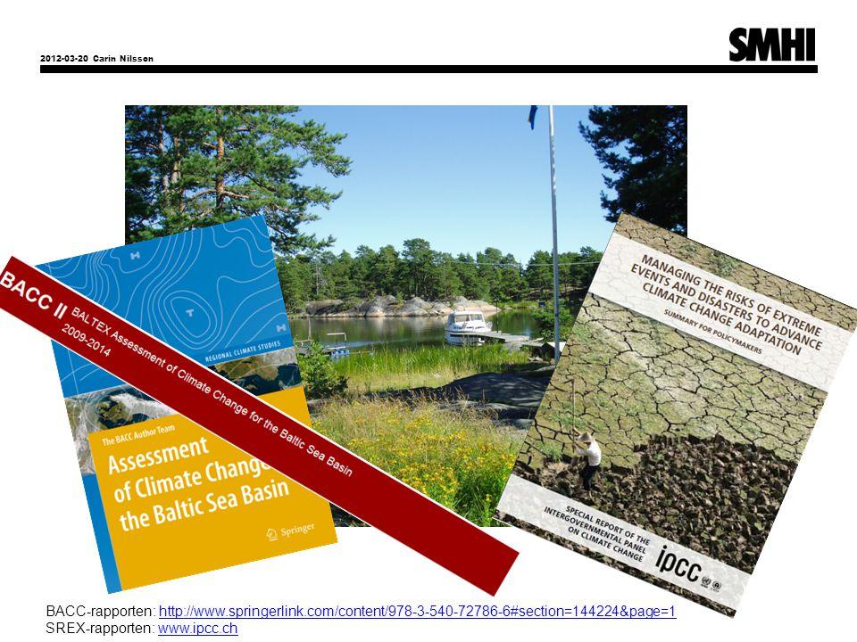 SREX-rapporten: www.ipcc.ch