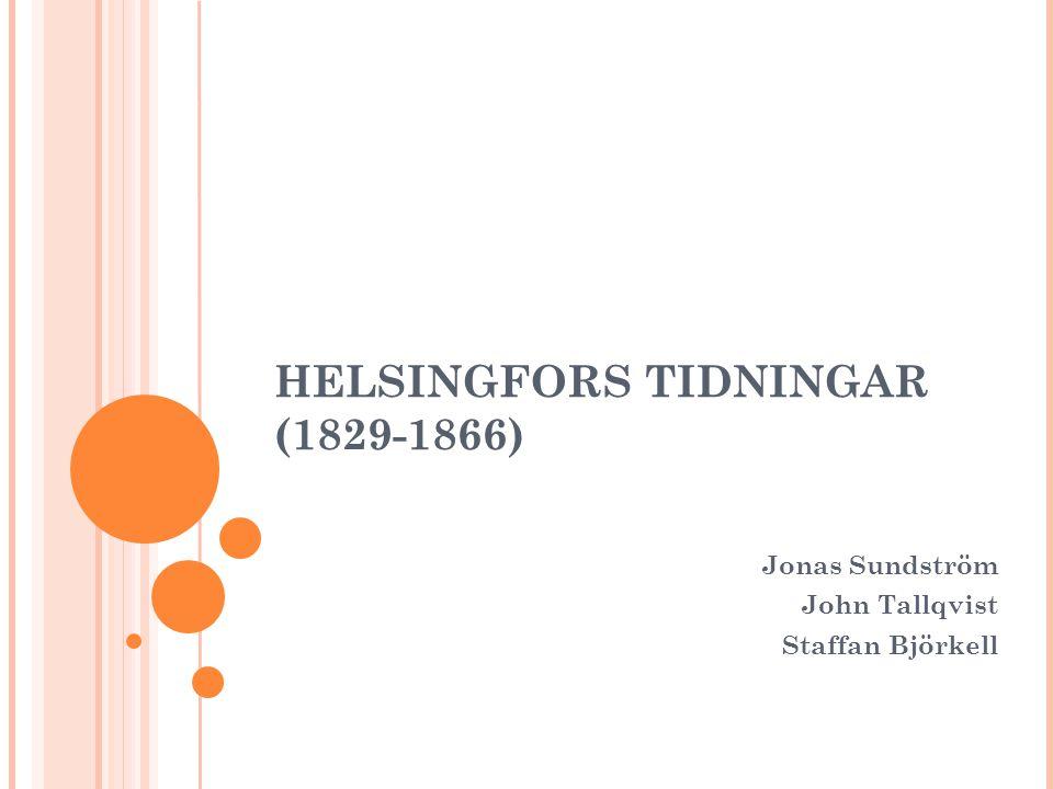 HELSINGFORS TIDNINGAR (1829-1866)