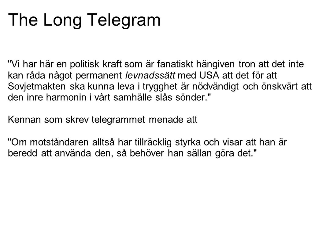 The Long Telegram