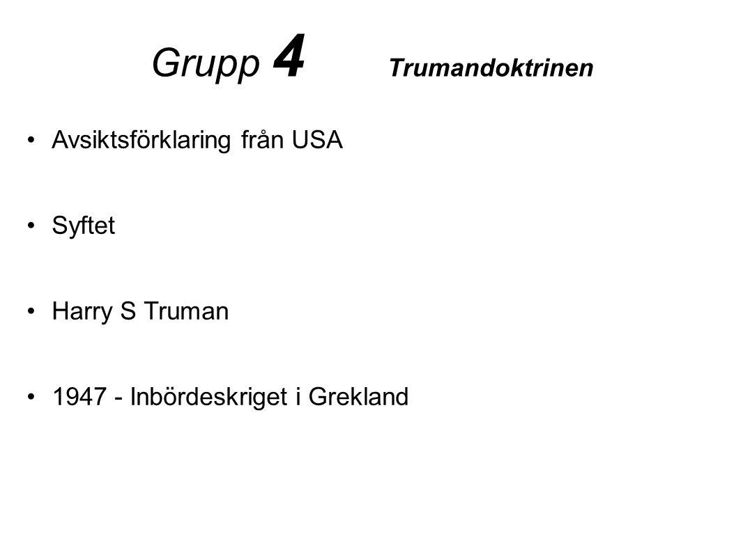 Grupp 4 Trumandoktrinen