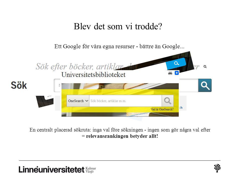 Ett Google för våra egna resurser - bättre än Google...