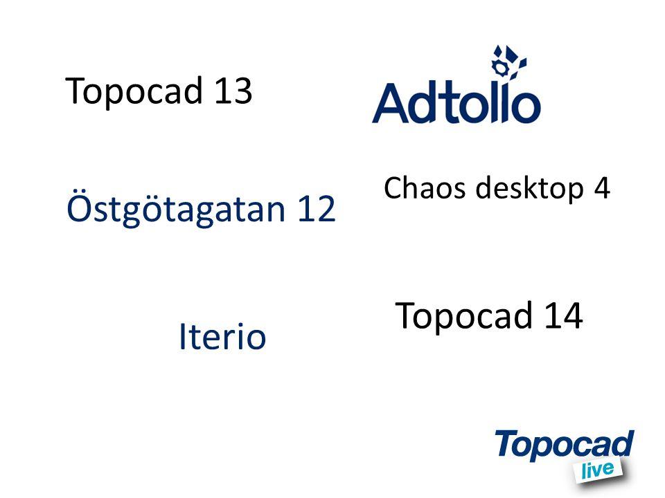 Topocad 13 Chaos desktop 4 Östgötagatan 12 Topocad 14 Iterio