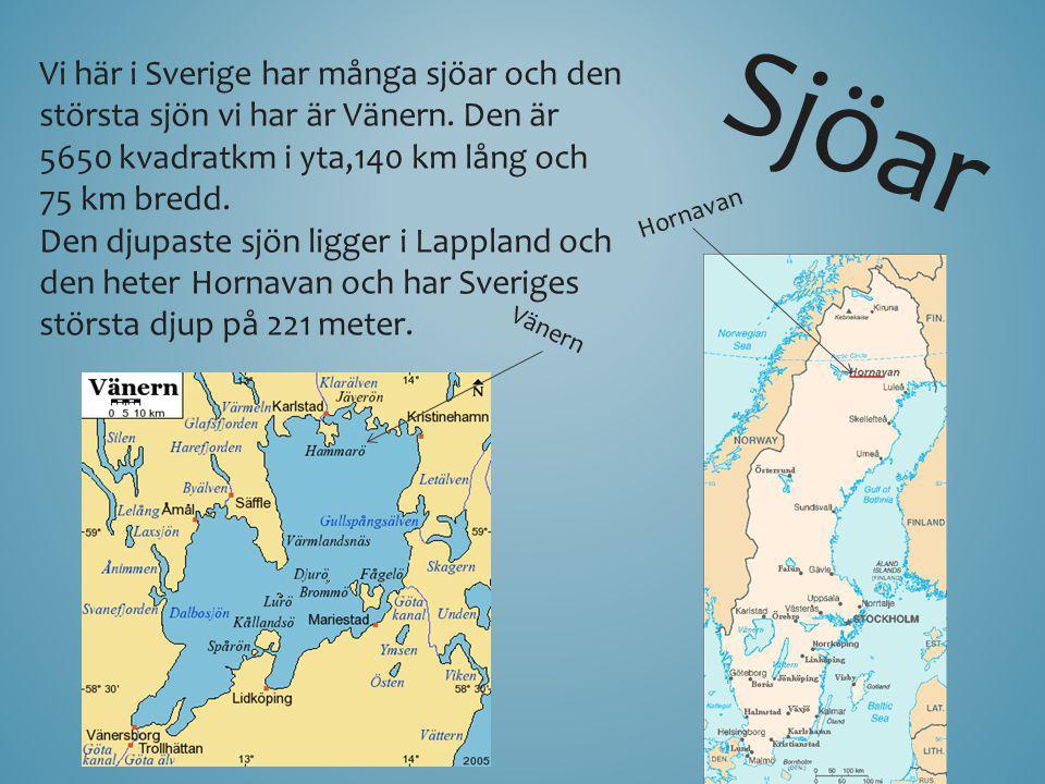 Vi här i Sverige har många sjöar och den största sjön vi har är Vänern
