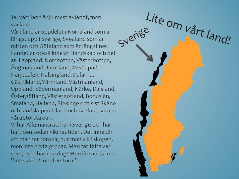 Lite om vårt land! Sverige