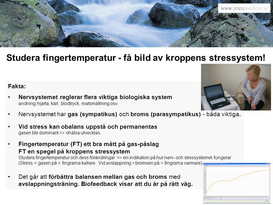 Studera fingertemperatur - få bild av kroppens stressystem!