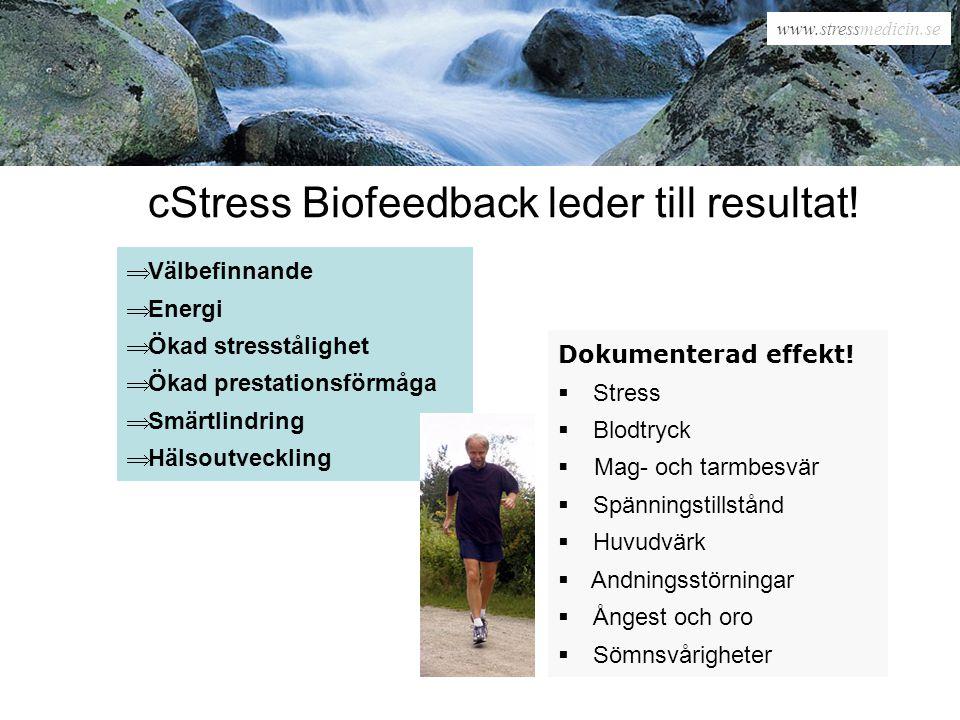 cStress Biofeedback leder till resultat!
