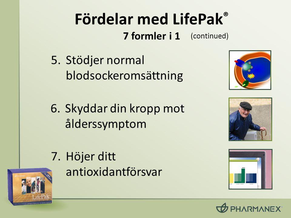 Fördelar med LifePak® 7 formler i 1