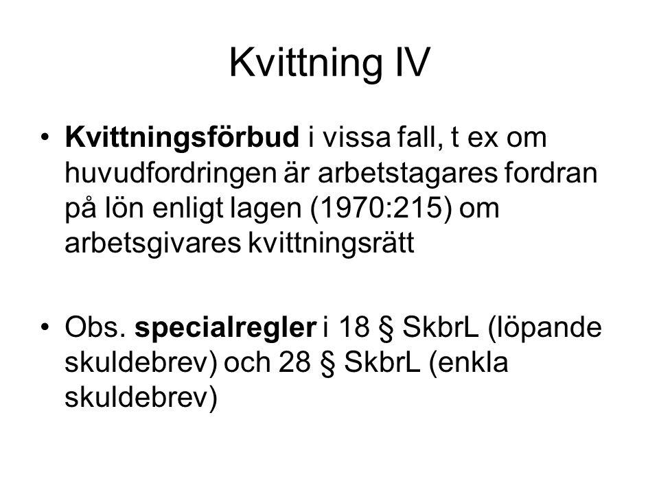 Kvittning IV