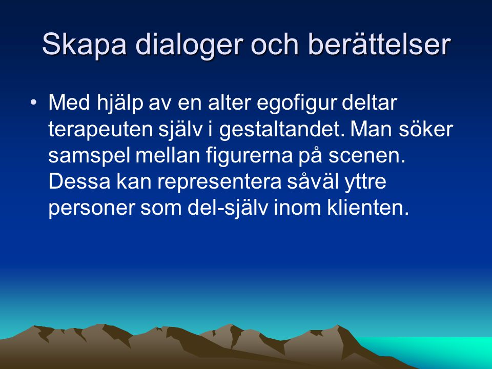 Skapa dialoger och berättelser