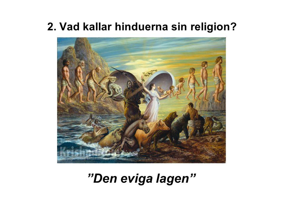 2. Vad kallar hinduerna sin religion