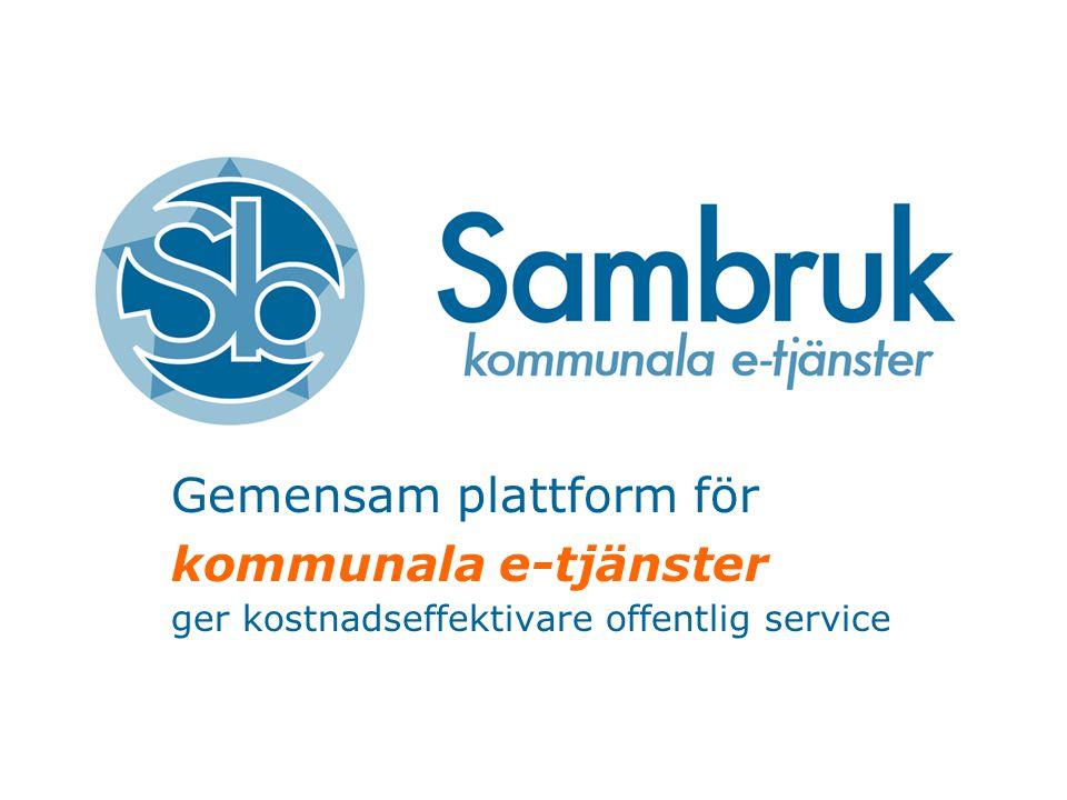Gemensam plattform för kommunala e-tjänster