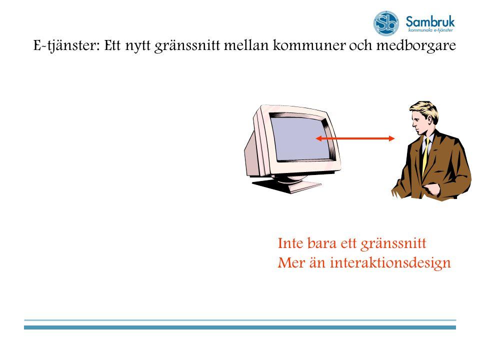 E-tjänster: Ett nytt gränssnitt mellan kommuner och medborgare