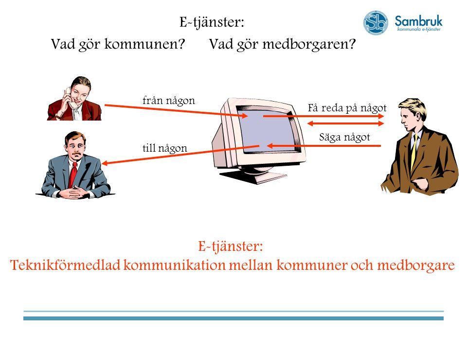 Teknikförmedlad kommunikation mellan kommuner och medborgare