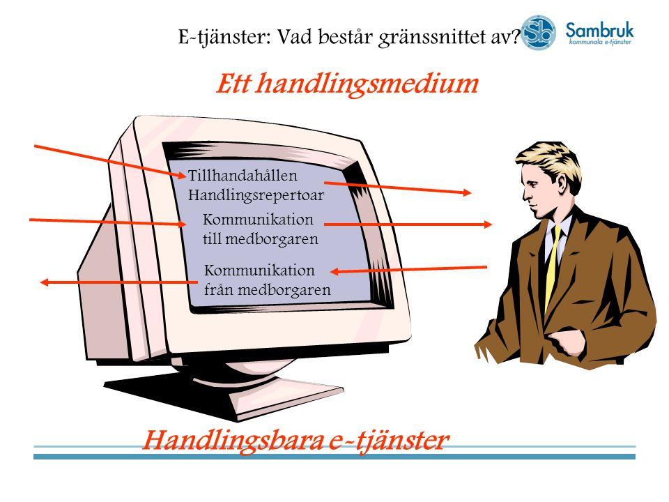 Handlingsbara e-tjänster