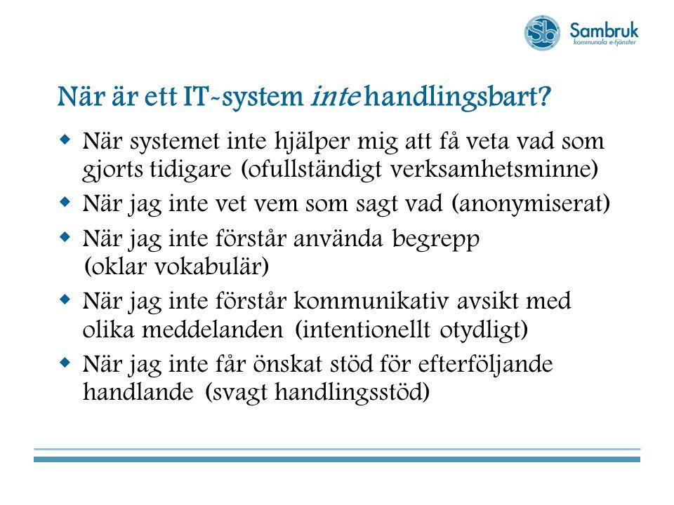När är ett IT-system inte handlingsbart