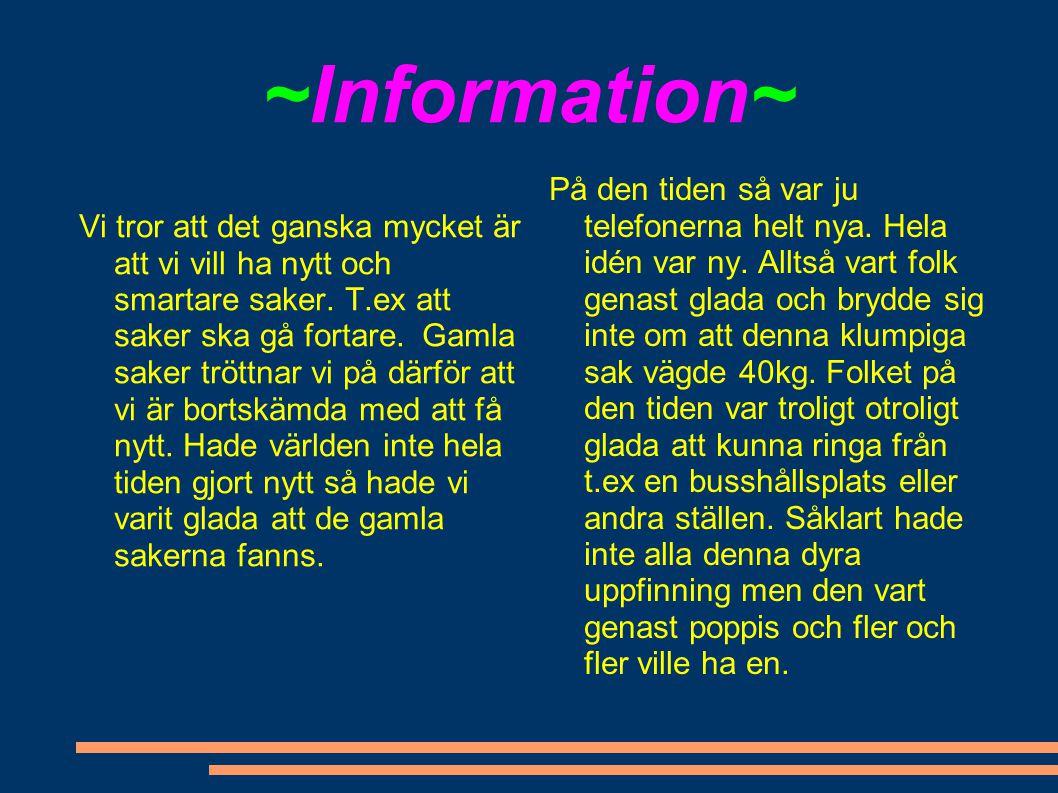 ~Information~