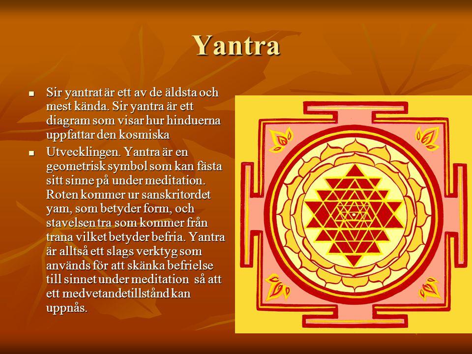 Yantra Sir yantrat är ett av de äldsta och mest kända. Sir yantra är ett diagram som visar hur hinduerna uppfattar den kosmiska.