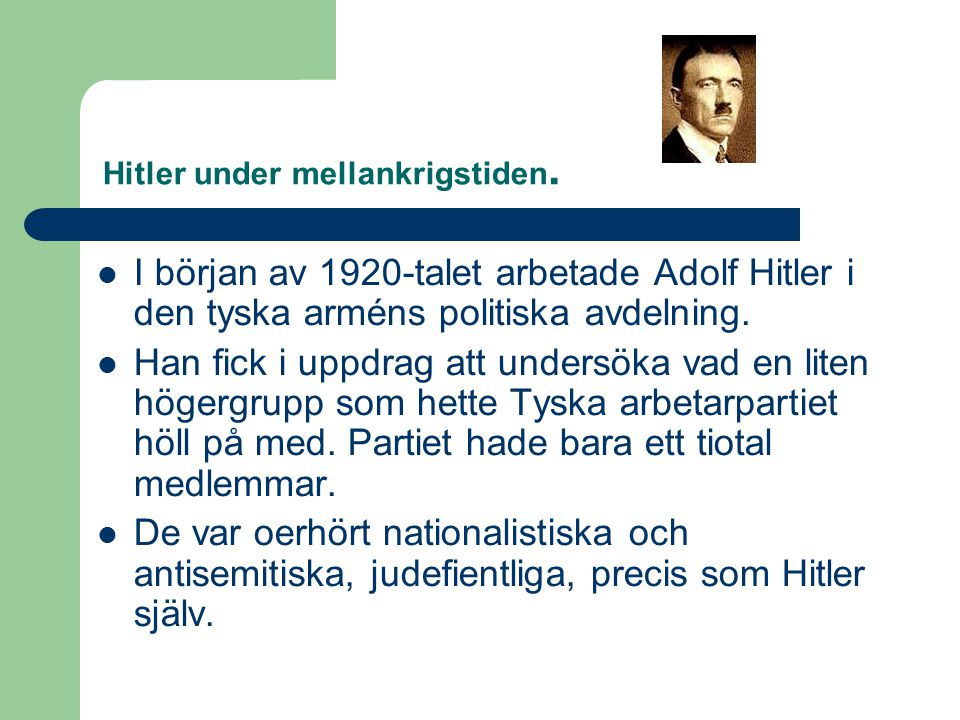 Hitler under mellankrigstiden.