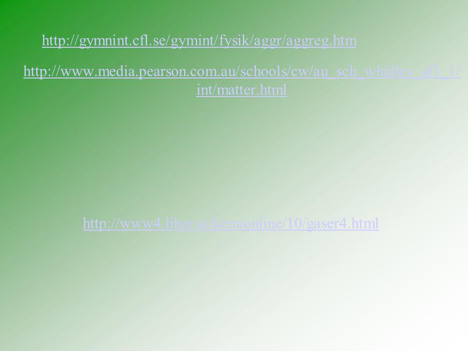 http://gymnint.cfl.se/gymint/fysik/aggr/aggreg.htm http://www.media.pearson.com.au/schools/cw/au_sch_whalley_sf1_1/int/matter.html.