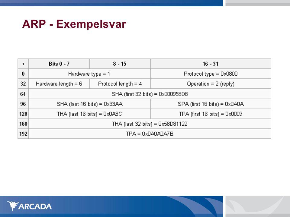 ARP - Exempelsvar