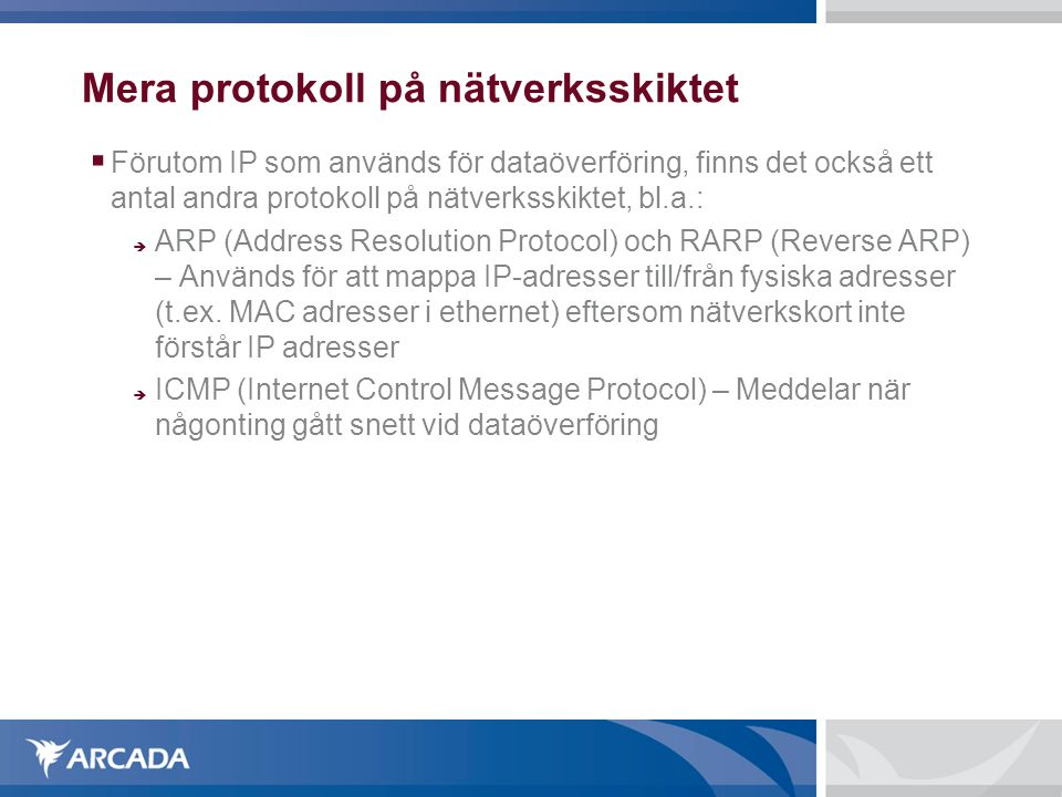 Mera protokoll på nätverksskiktet