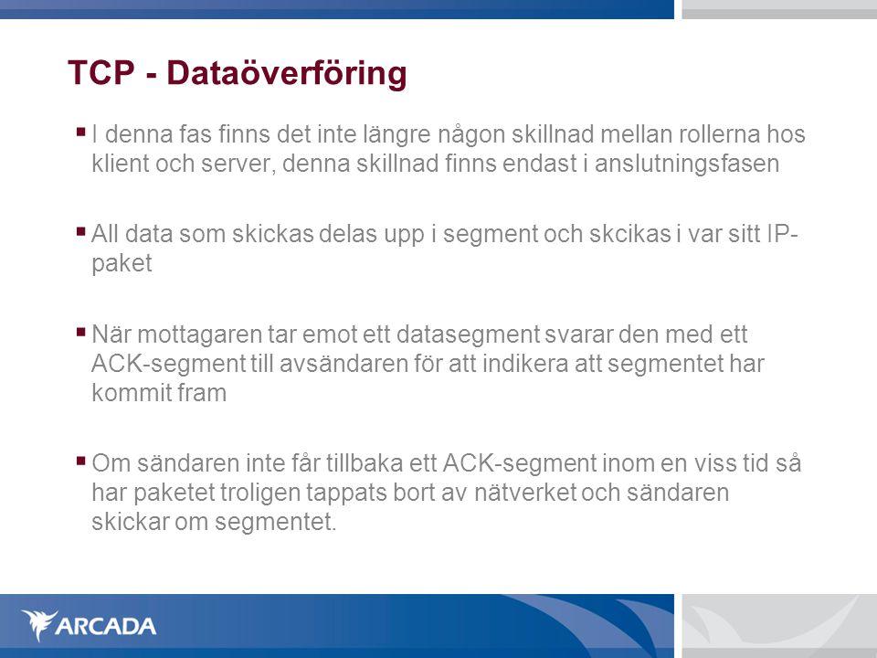 TCP - Dataöverföring