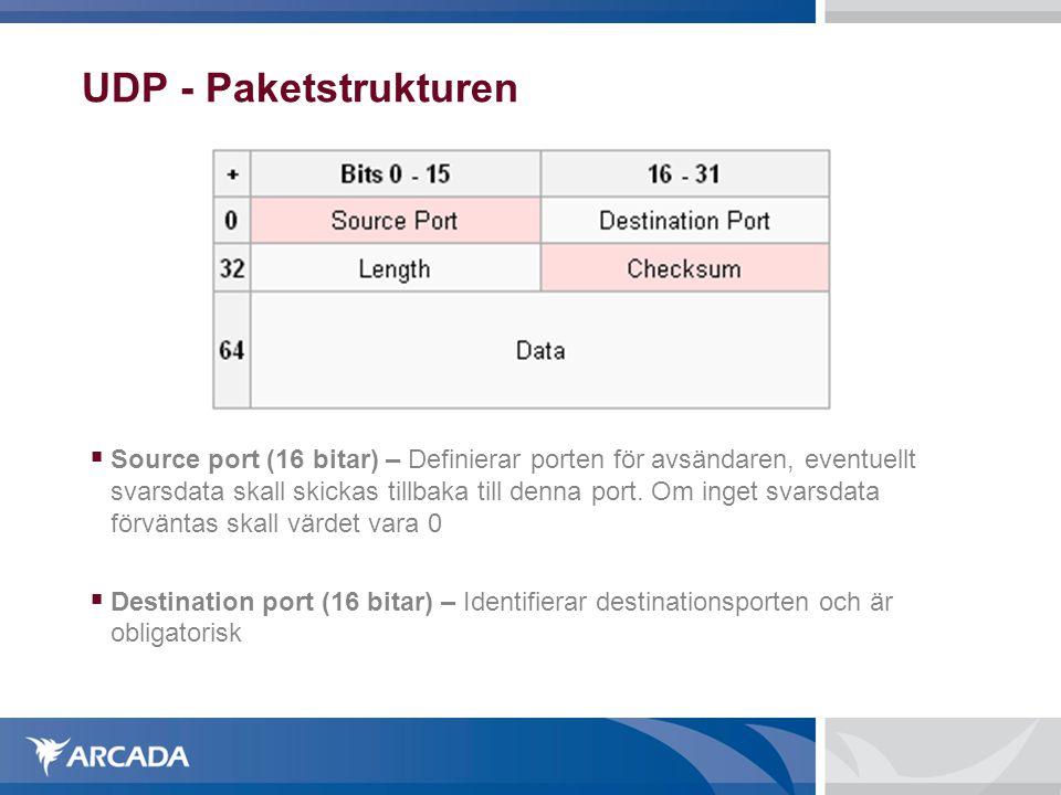 UDP - Paketstrukturen