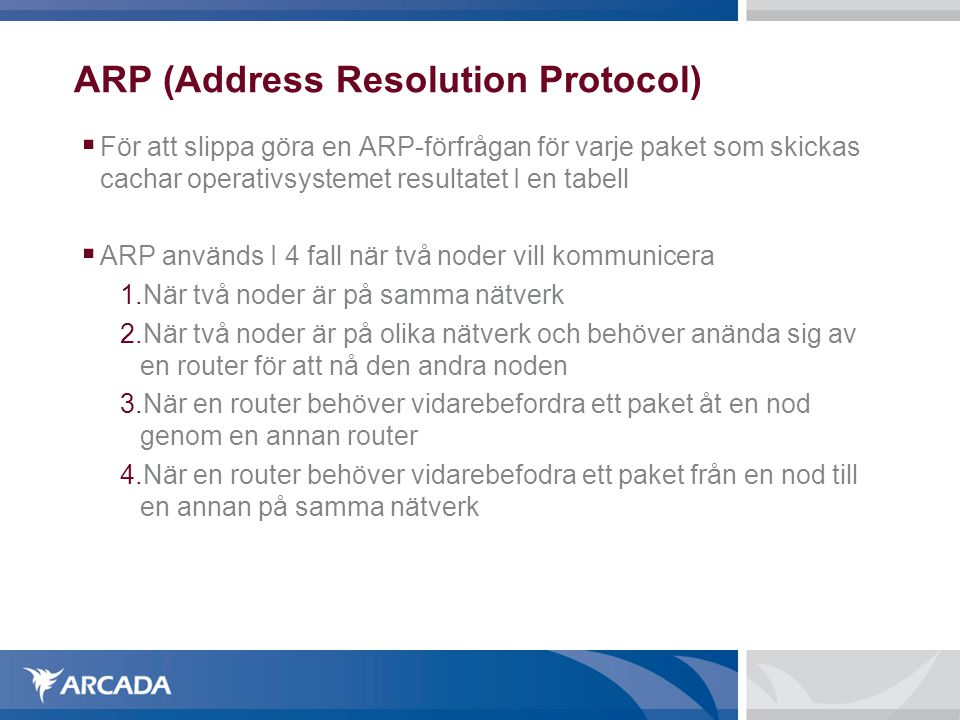 ARP (Address Resolution Protocol)‏
