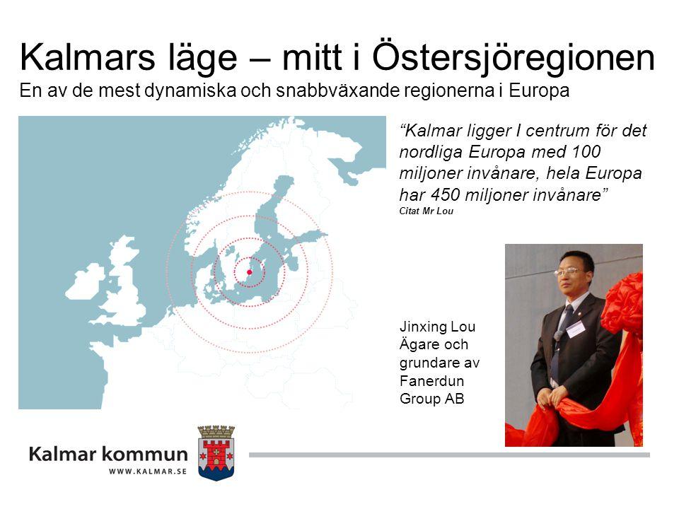 Kalmars läge – mitt i Östersjöregionen En av de mest dynamiska och snabbväxande regionerna i Europa