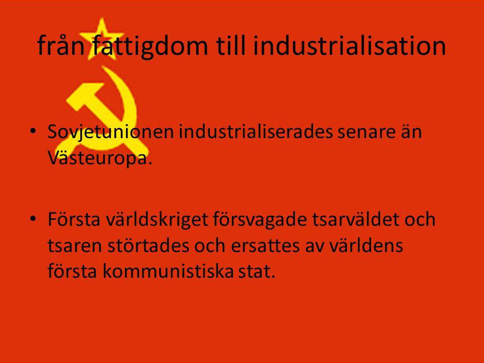 från fattigdom till industrialisation
