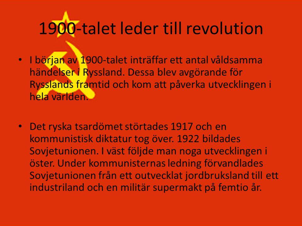 1900-talet leder till revolution