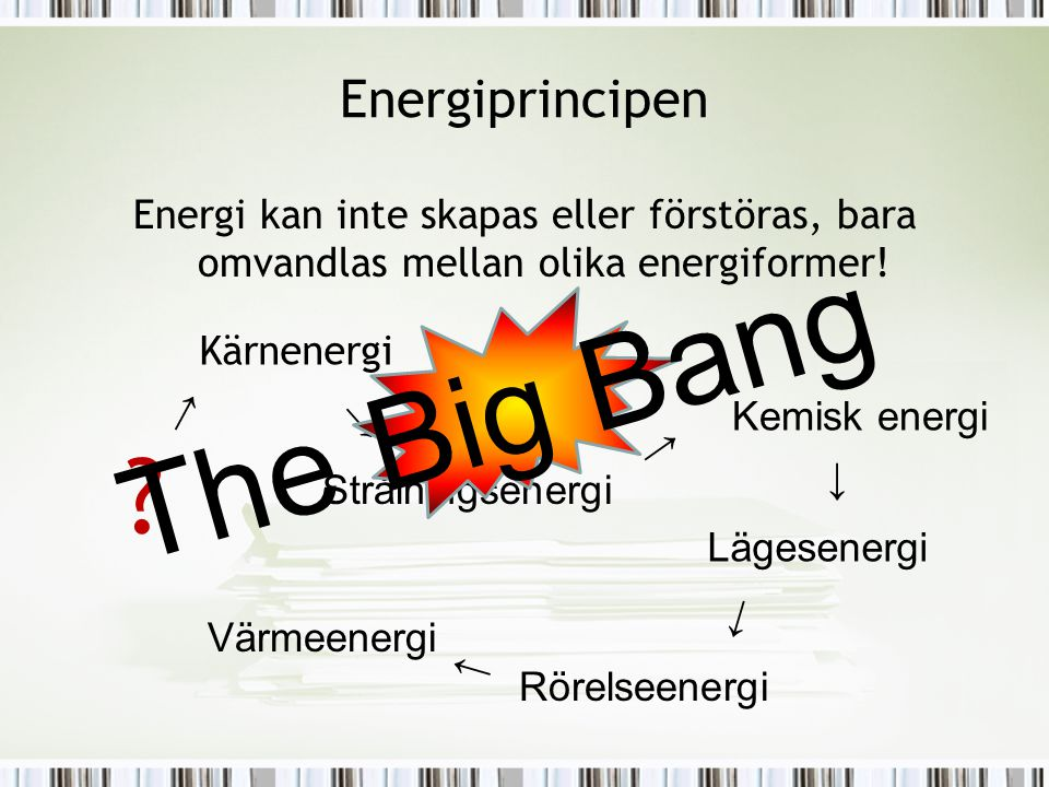 The Big Bang Energiprincipen