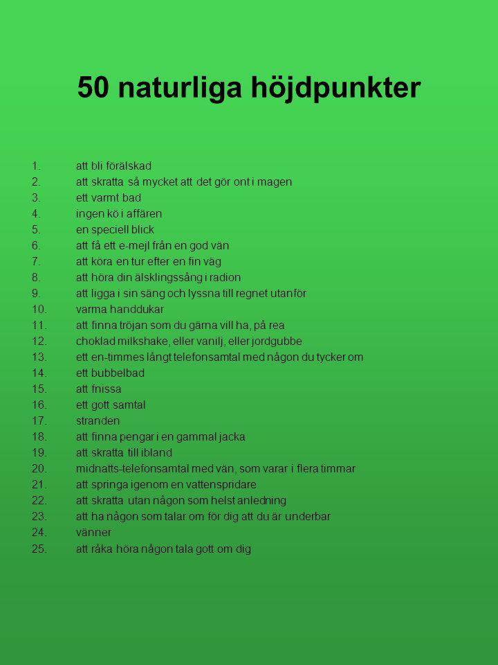 50 naturliga höjdpunkter