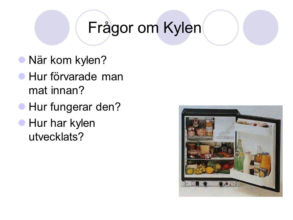 Frågor om Kylen När kom kylen Hur förvarade man mat innan