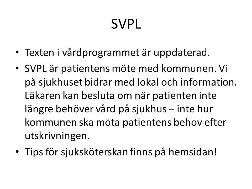 SVPL Texten i vårdprogrammet är uppdaterad.