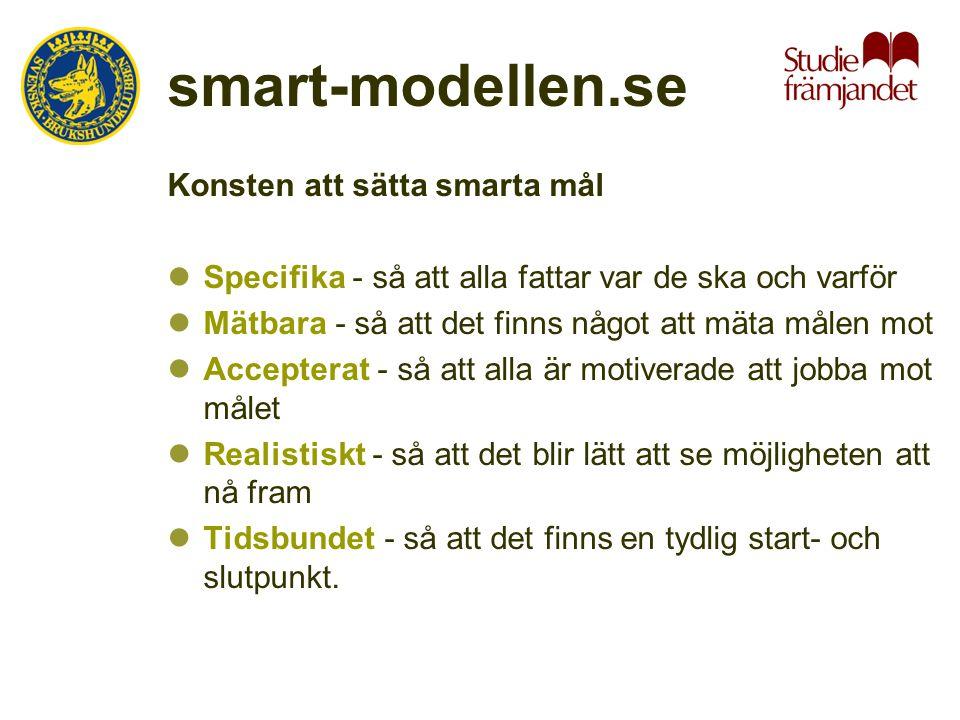 smart-modellen.se Konsten att sätta smarta mål