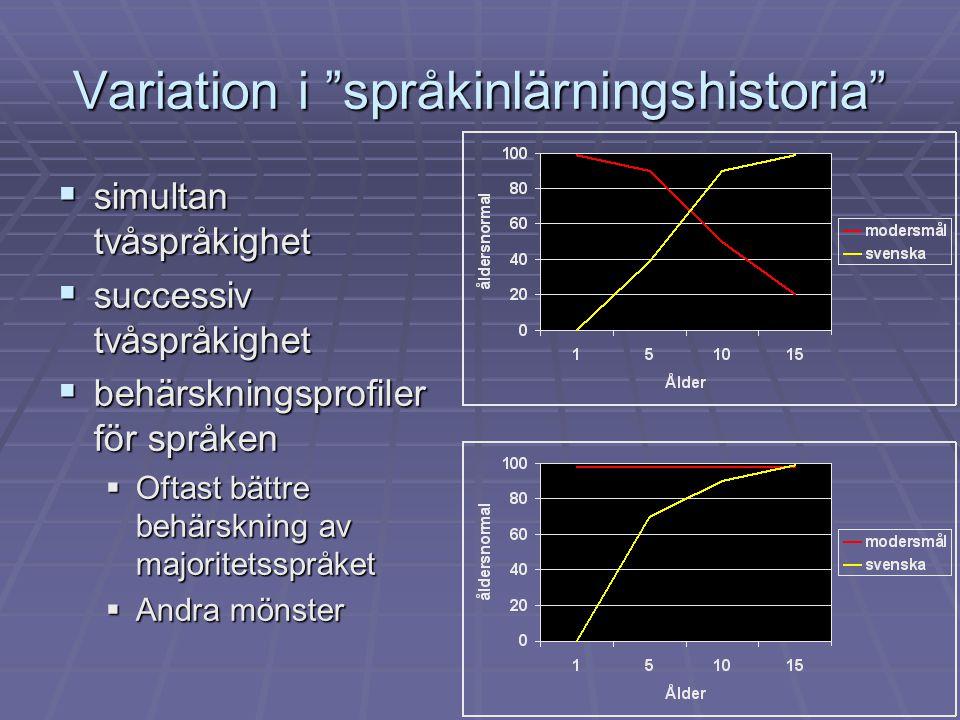 Variation i språkinlärningshistoria