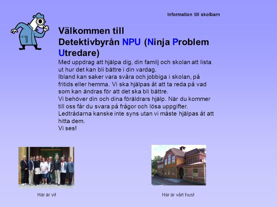 Detektivbyrån NPU (Ninja Problem Utredare)