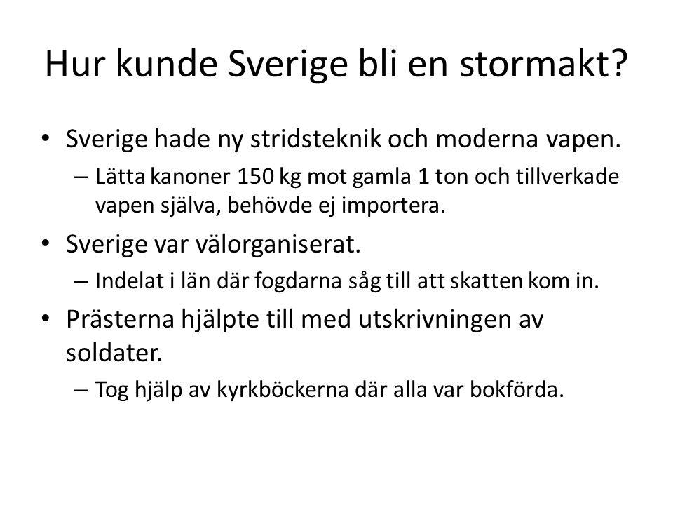 Hur kunde Sverige bli en stormakt