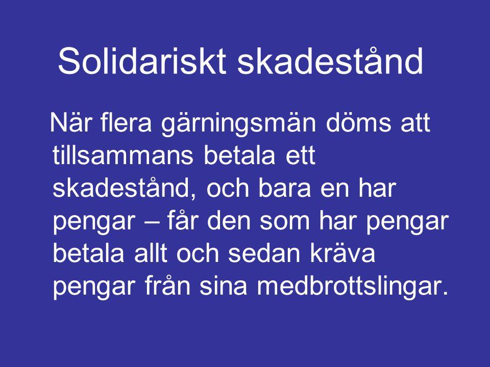 Solidariskt skadestånd