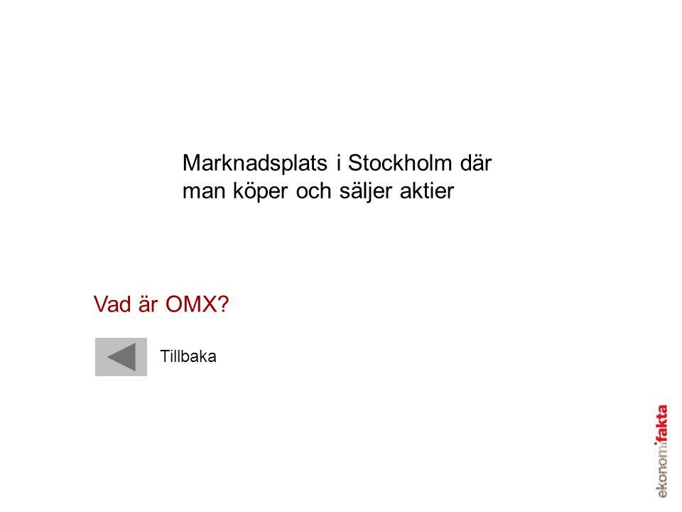 Marknadsplats i Stockholm där man köper och säljer aktier